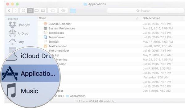 khắc phục lỗi không thể xóa ứng dụng trên Macbook OS