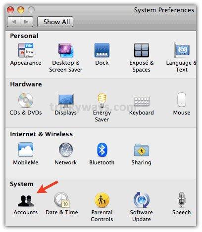 xóa tài khoản người sử dụng trên Macbook