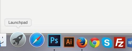sử dụng Launchpad trên macOS Sierra
