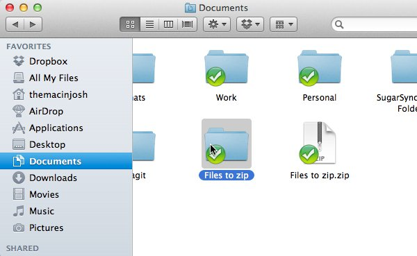 how to create a zip file on macbook