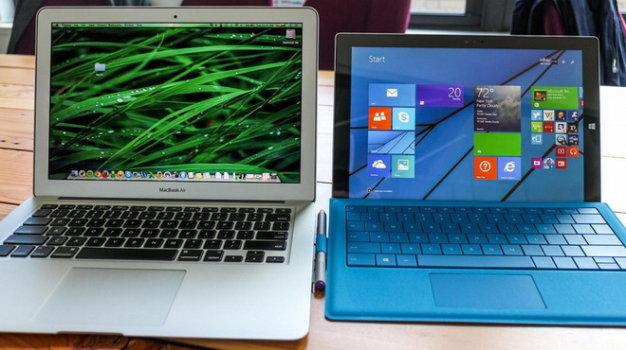 So sánh cấu hình Surface Pro 3 với Macbook Air 13 inch cũ chính hãng